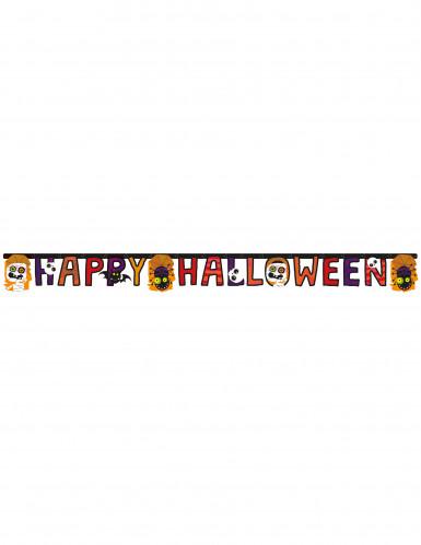 Girlande Happy Halloween mit kleinen Monstern
