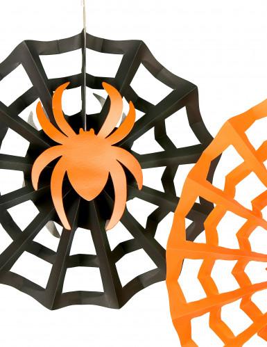 3 Spinnennetz-Rosetten zum Aufhängen an Halloween-1