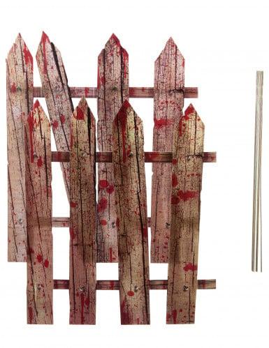 2 x Halloween-Dekoration Blutiger Zaun, 59 cm