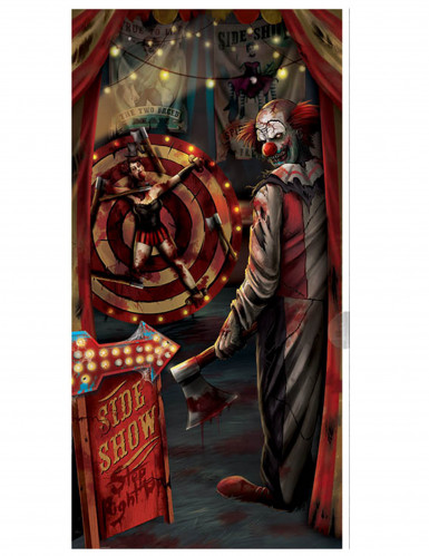 Türdekoration Halloween-Clown 85 x 165 cm