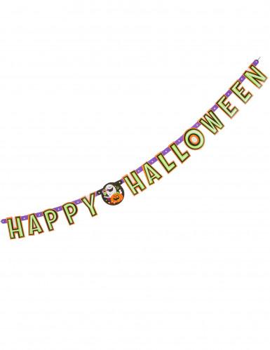 Girlande Happy Halloween Kürbis und Co.