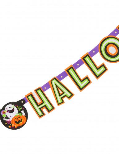 Girlande Happy Halloween Kürbis und Co.-1