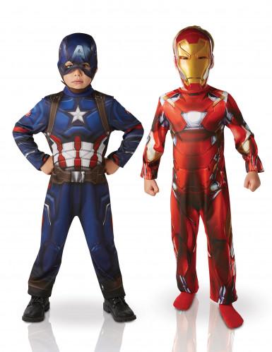 Iron Man™ und Captain America™ Kostüme für Kinder
