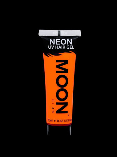 Fluoreszierendes UV-Haargel in Orange 20 ml von Moonglow ©-1