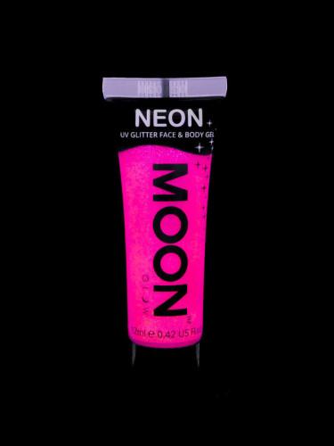 Fuchsiafarbenes UV-Gel für Körper und Gesicht von Moonglow 12ml-1