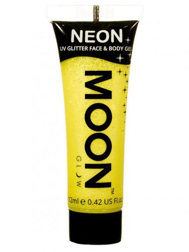 Glitzerndes gelbes UV-Gel für Gesicht und Körper von Moonglow