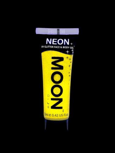 Glitzerndes gelbes UV-Gel für Gesicht und Körper von Moonglow-1
