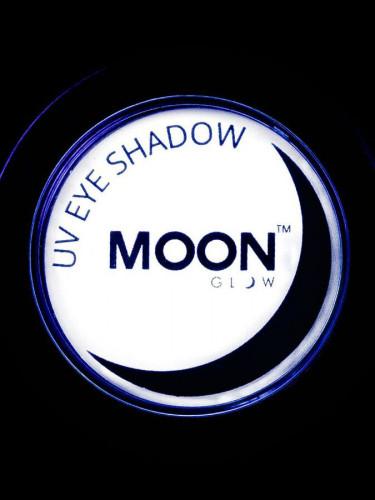 Weißer Lidschatten Moonglow © Leuchtet unter Schwarzlicht-1