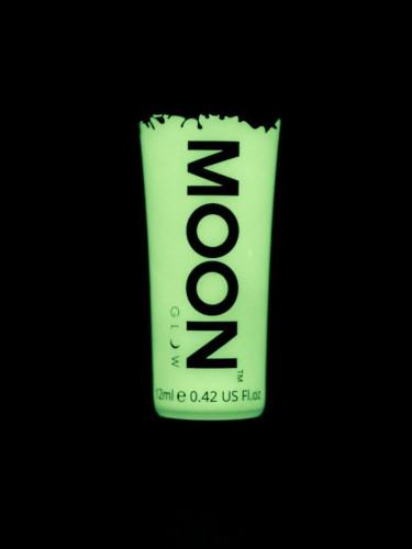 Weiße phosphoreszierende Schminkfarbe für Gesicht und Körper von Moonglow 12ml-1