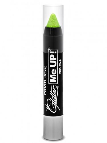 Glitzer UV-Schminkstift neongrün 3 g