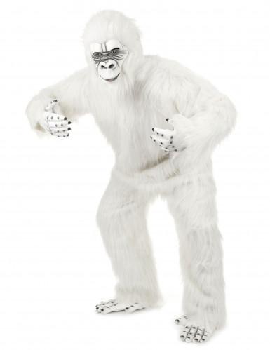 Deluxe Yeti Kostüm für Erwachsene weiß-1