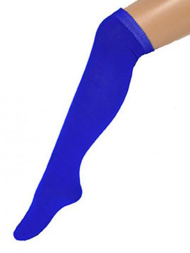 Lange Strümpfe für Erwachsene blau 53 cm