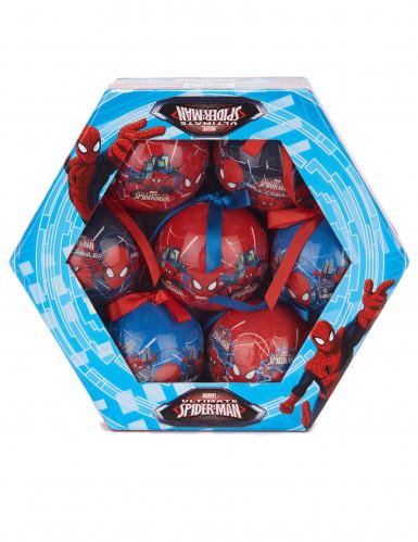7 Spiderman™ Weihnachtskugeln-1