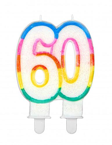 Geburtstagskerze mit der Zahl 60