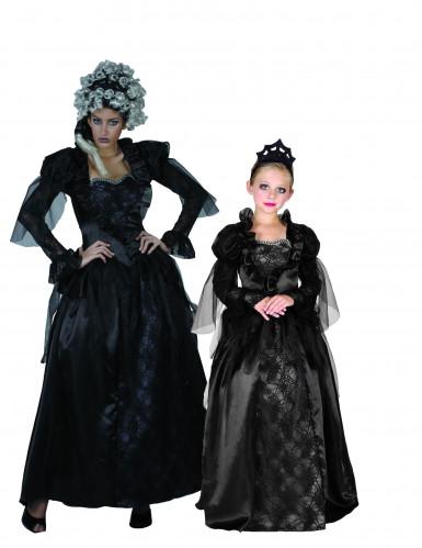 Gothic Gräfin und Prinzessin Halloween - Paarkostüm Dame und Mädchen