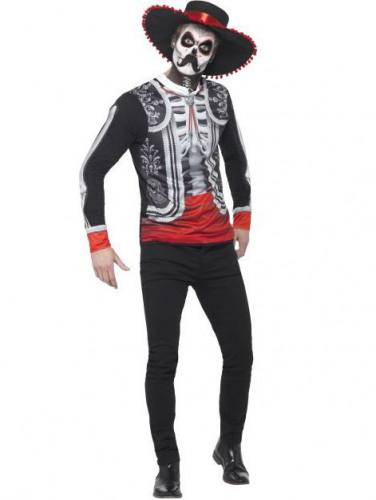 Skelett Mexikaner Tag der Toten Kostüm für Herren