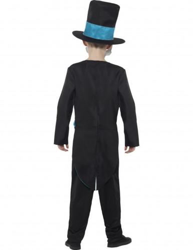 Skelett Kostüm ür Jungen blau-1
