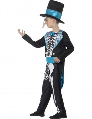 Skelett Kostüm ür Jungen blau-2