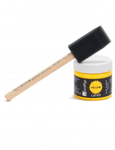 Make-up aus flüssigem Latex mit Schwamm-Applikator,59 ml in Gelb-2
