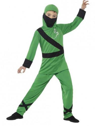 Grünes Ninja Kostüm für Kinder