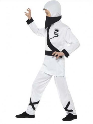 Weißes Ninjakostüm für Kinder-1