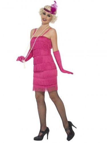 20er Charleston Damenkostüm pink-1