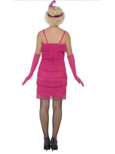 20er Charleston Damenkostüm pink-2