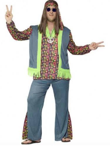 Hippie Kostüm für Herren bunt