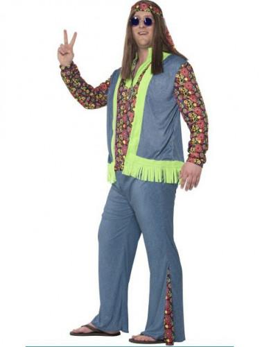 Hippie Kostüm für Herren bunt-1