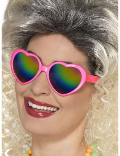 Herz Spaßbrille mit bunten Gläsern für Damen
