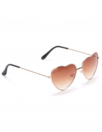 Herz-Brille für Erwachsene braun