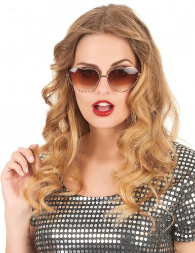 Herz-Brille für Erwachsene braun-1