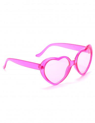 Rosafarbene Brille Herz für Erwachsene
