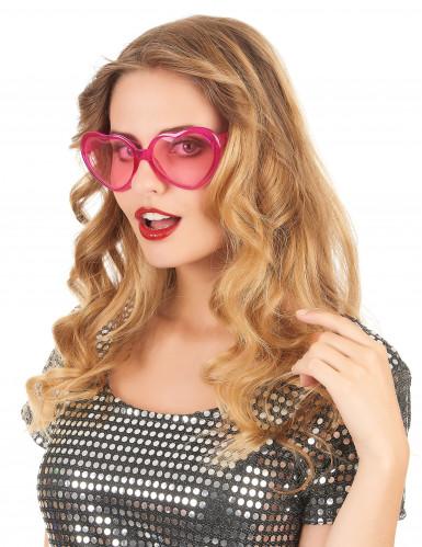 Rosafarbene Brille Herz für Erwachsene-1