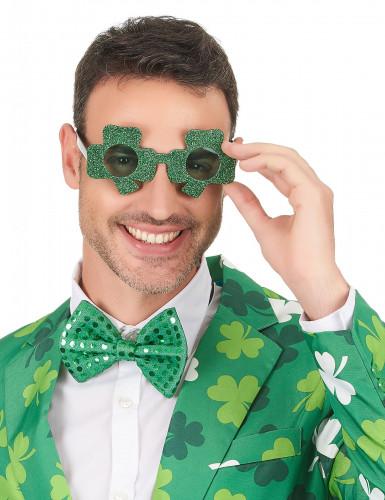 Kleeblatt Spaßbrille St. Patrick's Day-2