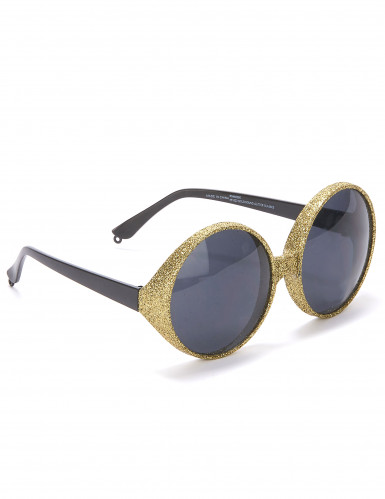 Runde Sonnenbrille mit Goldrand