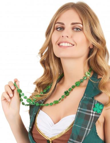 Kleeblatt Halskette St. Patrick's Day grün-1