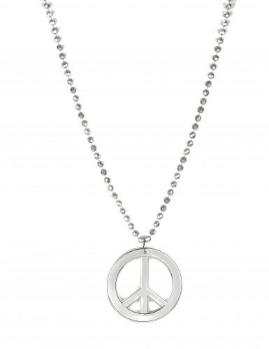 Silberne Peace-Halskette