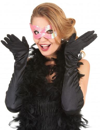 Rosa Pailletten Augenmaske