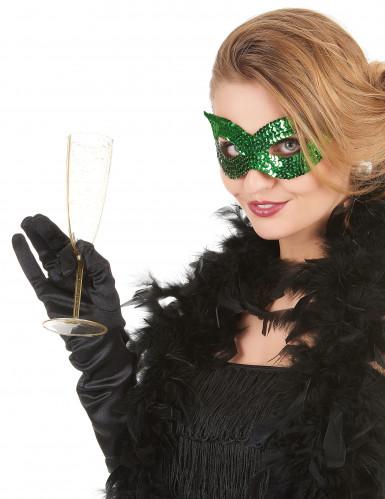 Augenmaske mit grünen Paletten für Erwachsene