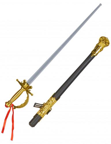 Degen Piraten/Musketierschwert aus Kunststoff für Erwachsene