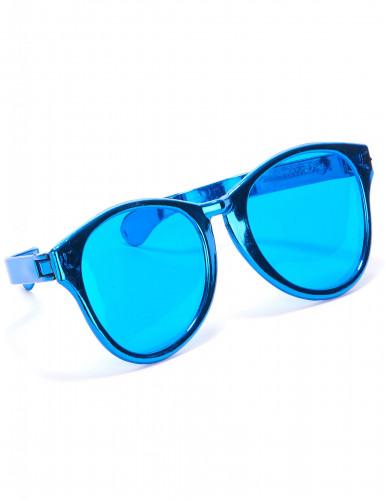 Riesige Party-Brille in Blau für Erwachsene