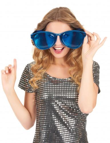 Riesige Party-Brille in Blau für Erwachsene-1