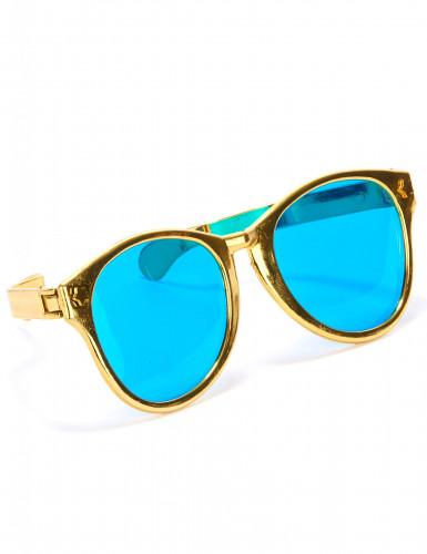 Riesige Brille für Erwachsene gold