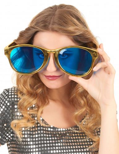 Riesige Brille für Erwachsene gold-1