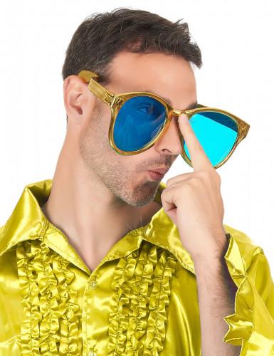 Riesige Brille für Erwachsene gold-2