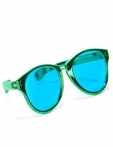 Riesige Spaß-Brille für Erwachsene grün-blau