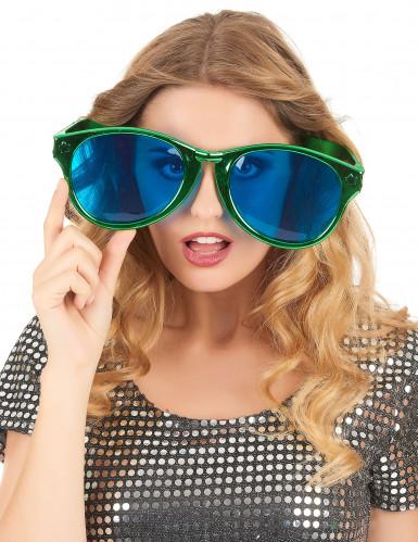Riesige Spaß-Brille für Erwachsene grün-blau-1