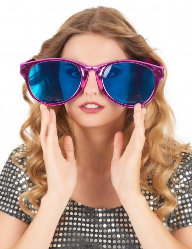 Brille für Erwachsene mit rosa Gläsern-1