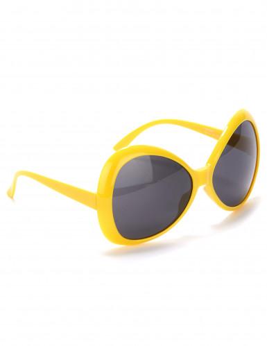Große Disco-Brille in Gelb